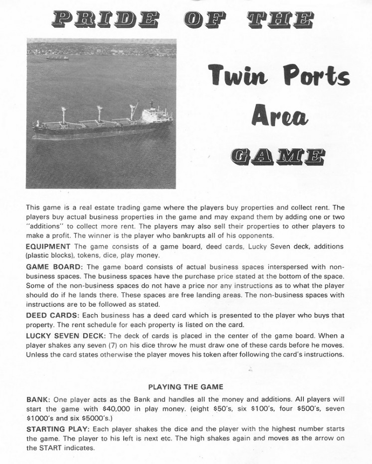 Pride of the Twin Ports Area Game 1