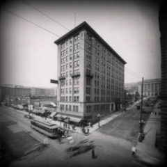 Holland Hotel with streetcar