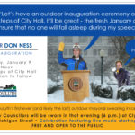 Monday, January 9 – City Inauguration Festivities