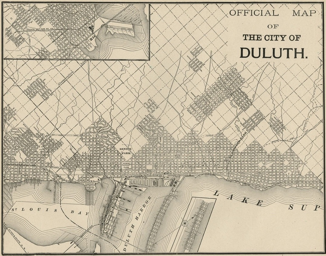 Official Map of the City of Duluth, 1887 - Perfect Duluth Day on toronto map, los angeles map, chicago map, pittsburgh map, great lakes map, omaha map, des moines map, minnesota map, houston map, memphis map, wisconsin map, new orleans map, sioux falls map, milwaukee map, the twin cities map, cleveland map, seattle map, indianapolis map, mobile map, oklahoma city map,