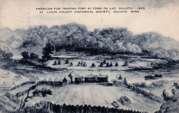 American Fur Trading Post at Fond du Lac 1826